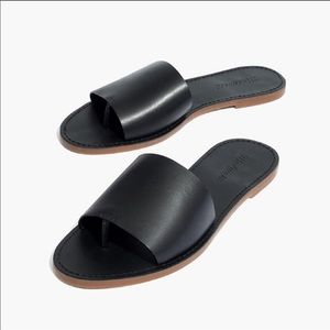 Madewell The Board Walk Post Leather Slide Sandals